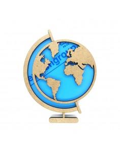 Shaker bola del mundo 12x8cm