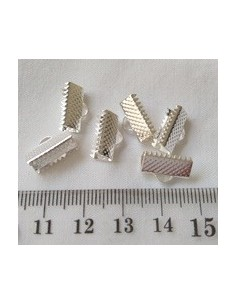 5 X TERMINAL GRAPA 13mm PLATEADO