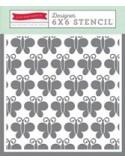 1 x STENCIL BUTTERFLIES 1