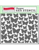 1 x STENCIL BUTTERFLIES 2