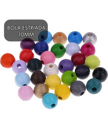 20 X  BOLAS ESTRIADAS 10MM