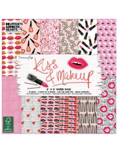 Dovecraft Kiss and Makeup 8x8 Paper Pack