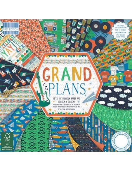 First Edition 12x12 FSC Paper Pad Grand Plans