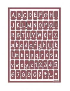 Plantilla stencil para ácido abecedario y números