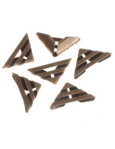 Esquinas para album 23x16mm bronce ( 10 unidades )