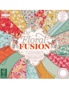 First Edition FSC 8x8 Paper Pad - Floral Fusion