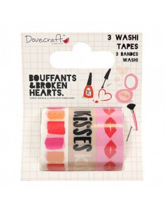 Dovecraft Kiss and Makeup Washi Tape