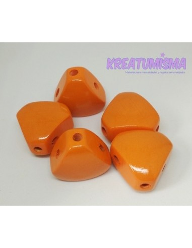Cuerpo de madera triangular mandarina