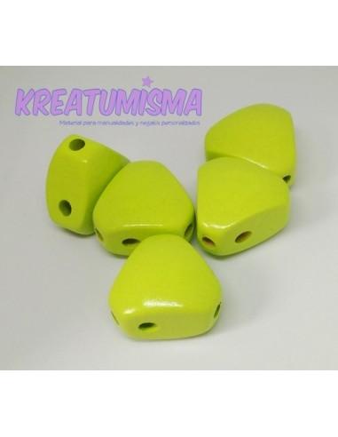 Cuerpo de madera triangular limón