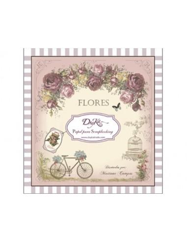 """BLOCK 24 hojas """"Flores"""" Dayka"""