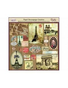 Papel decoupage Dayka postales antiguas