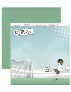 """Papel scrapbooking """"Fútbol"""" Dayka"""