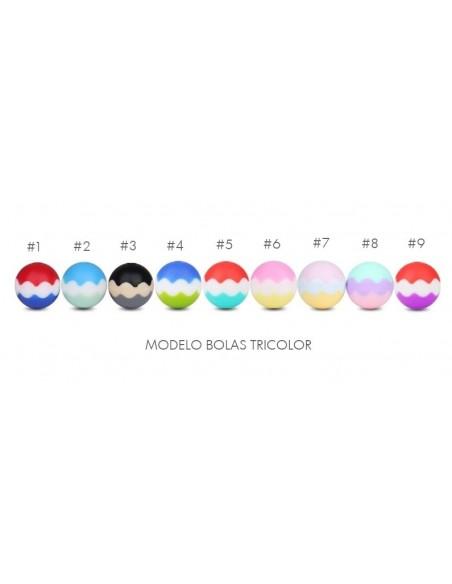 Bolas silicona tricolor 15mm