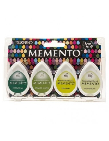 Tintas Memento Drops pack 4 Greenhouse