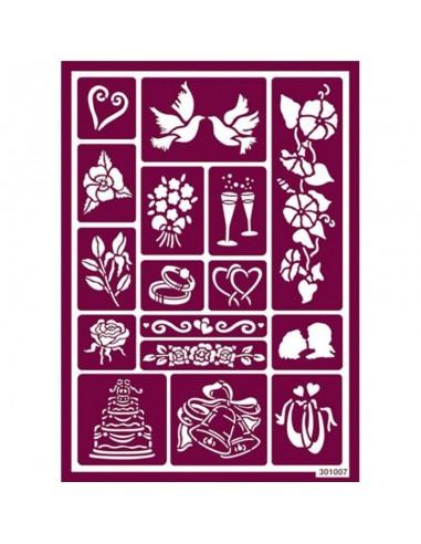 Plantilla stencil para ácido boda