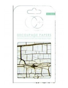 Papeles decoupage Cracked Wood