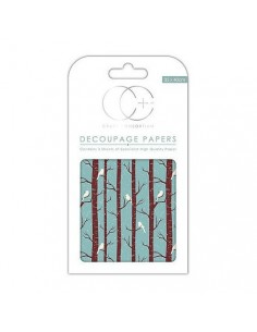Papeles decoupage Winter Woodland