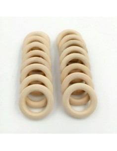 Aro de madera sin lacar 40mm