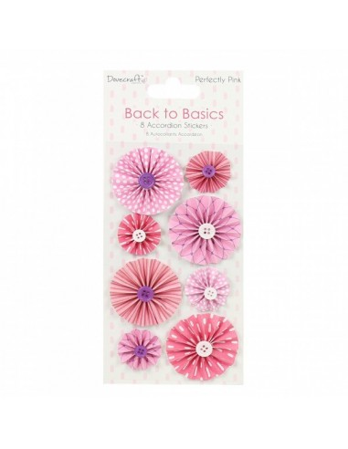 Back to Basics Perfectly Pink Accordion Stickers