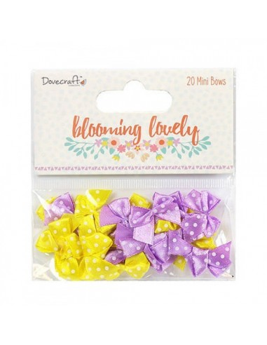 Mini lazos Dovecraft Blooming Lovely