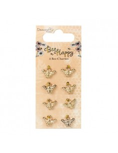 Dovecraft Bee Happy Charms