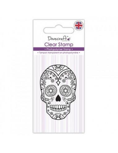 Mini sello acrílico Sugar Skull