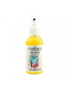 Pintura textil en spray amarillo limón