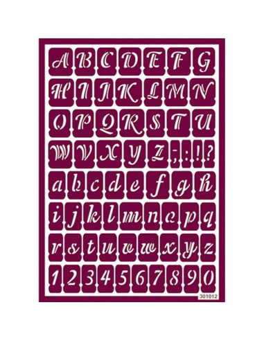 Plantilla stencil para ácido abecedario y números 2