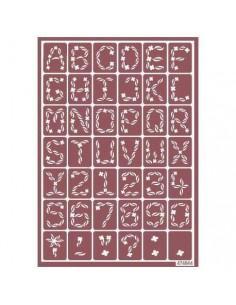 Plantilla stencil para ácido abecedario y números 3
