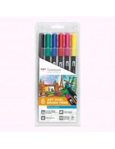 Set 6 rotuladores ABT Dual brush Colores primarios