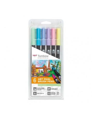 Set 6 rotuladores ABT Dual brush Colores pasteles