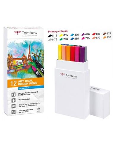 Set 12 rotuladores ABT Dual brush Colores primarios