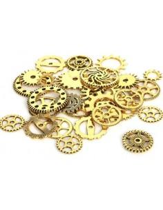 Engranajes metálicos 16gr dorado