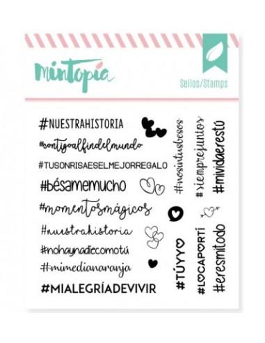 """Sello """" Hashtags enamorados """""""