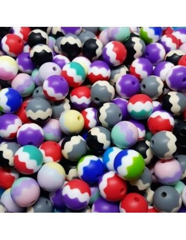 Bolas de silicona tricolor 15mm