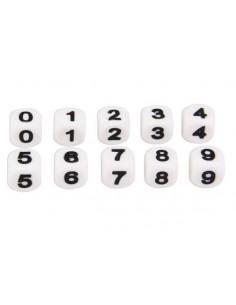 Números de silicona 12mm