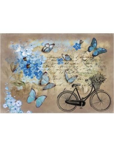 Papeles de arroz mariposas y bici