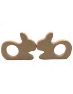 Mordedor de madera conejo