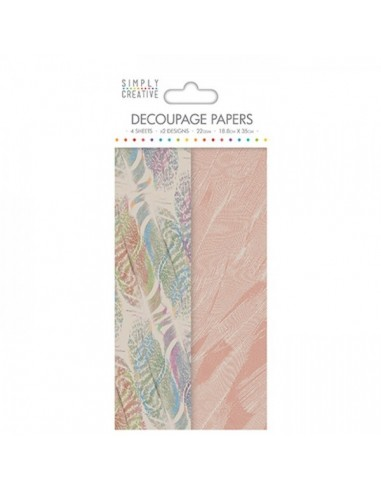 Pack Papeles decoupage Multi Feathers