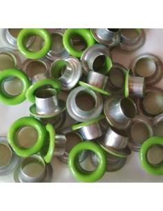 Eyelets basic verde ( 50 unidades )