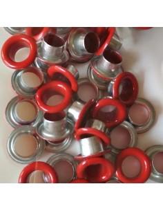 Eyelets basic rojo ( 50 unidades )