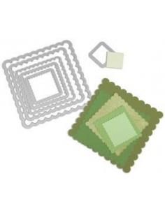 Set troqueles Framelits Squares Scallop