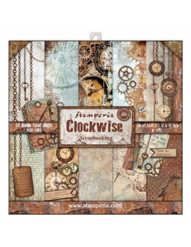Kit papeles Stamperia Clockwise