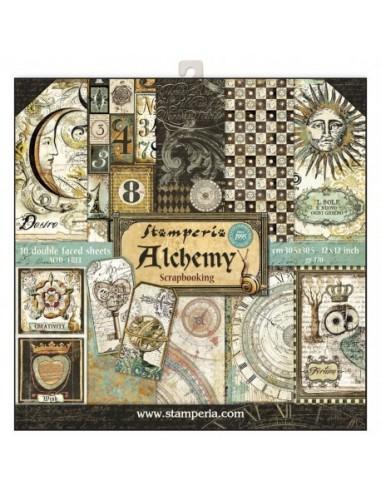 Kit papeles Stamperia Alchemy
