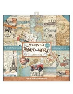Kit papeles Stamperia Around the world