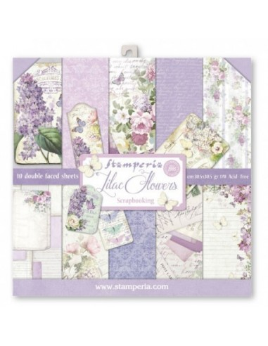 Kit papeles Stamperia Lilac