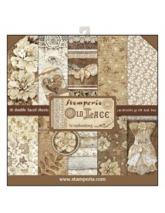 Kit papeles Stamperia Old lace