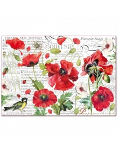 Papel arroz Botanic Poppies