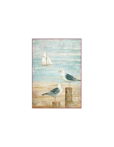 Papel de arroz Din A4 Sea Land Seagulls