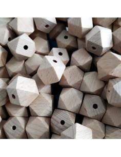Hexágono de madera sin lacar 16mm